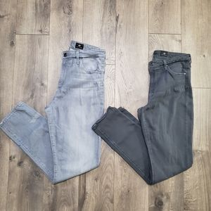 """(2) AG Jeans """"The Stevie Ankle"""" Jeans"""